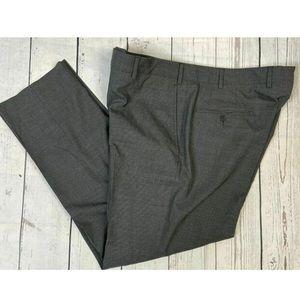 JB Britches Wool Blend Gray Dress Pant 32x30 38x30
